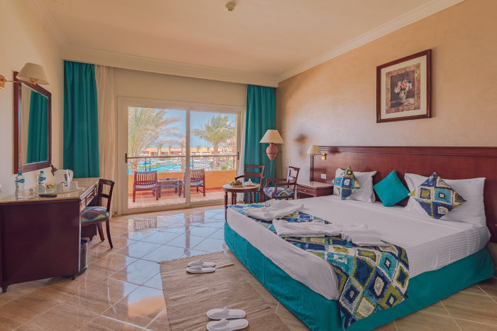 Pool / garden view room at Malikia Resort Abu Dabbab