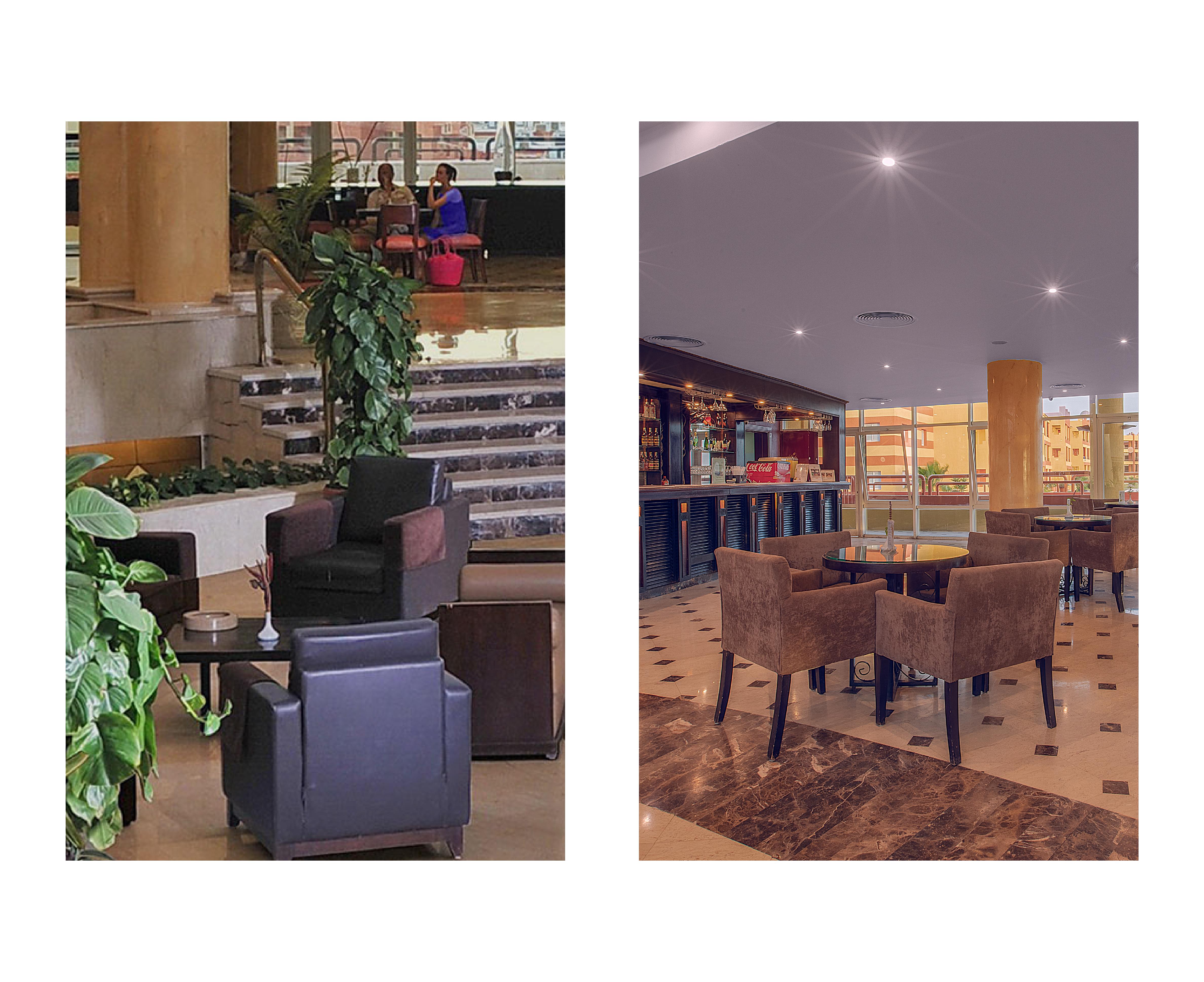 Lounge, lobby, and bar