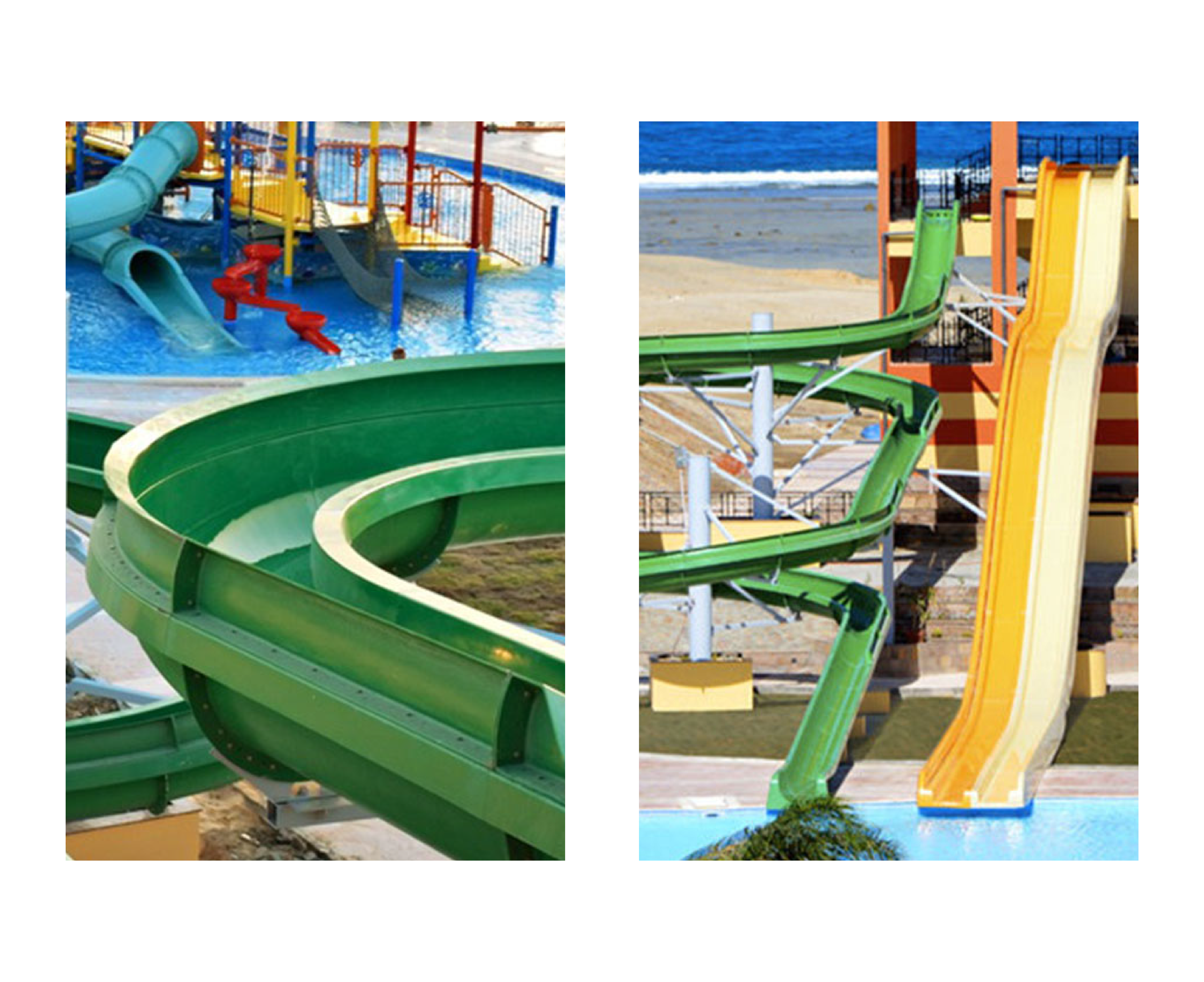 Water slides of the hotel